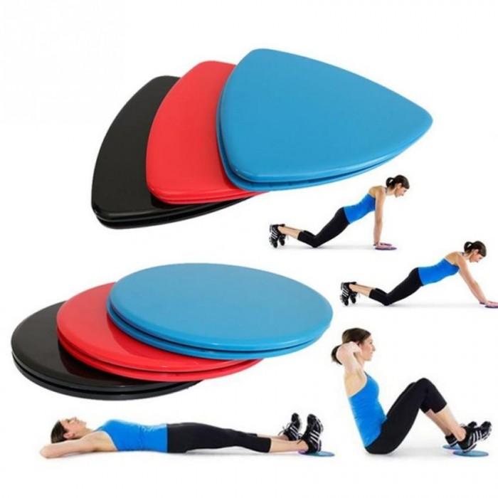 fa4f360a2572 Nava Core Sliders Exercises Sliding Discs Fitness Gliders Gliding Disc Full  Body Workout Home Abs Training 2pcs TRIANGLE BLUE