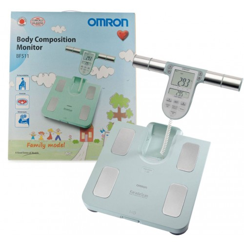 OMRON KARADA SCAN Body Composition Health Monitor - BF511 Turquoise