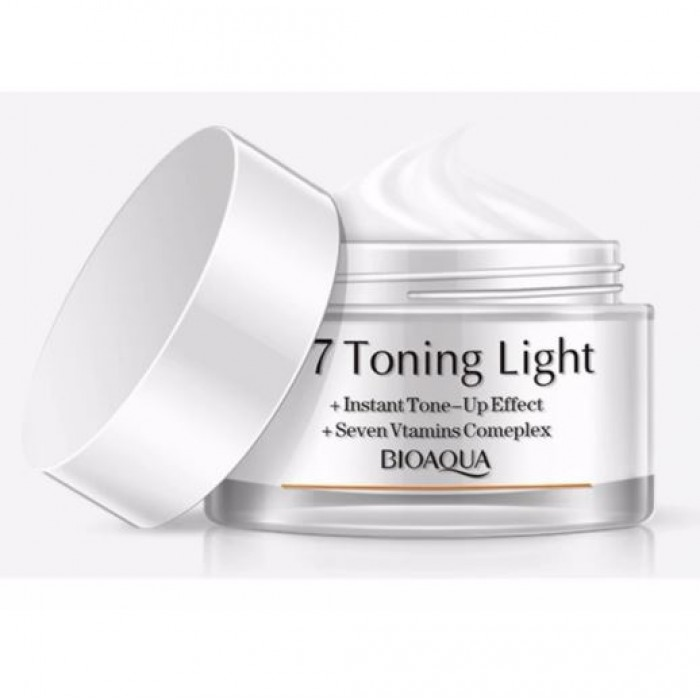 Sinma Bioaqua V7 Toning Light Instant Tone-Up Effect + Seven Vtamins Comeplex Crystal Clear Nude Makeup Lazy Cream Foundation BB CC 50g